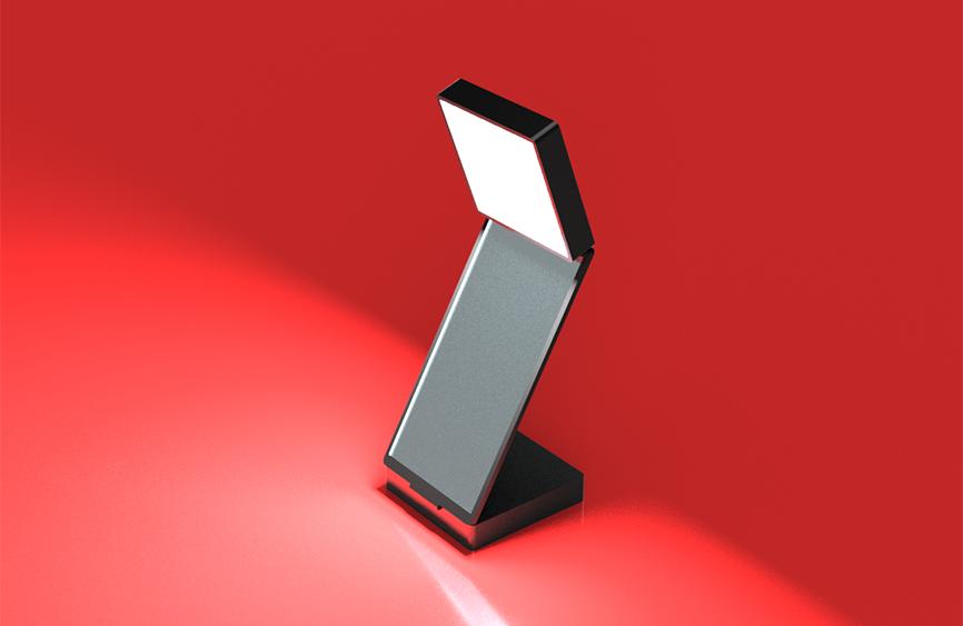 LED内臓のミラーのデザイン
